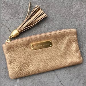 Elliott Lucca Leather Tasseled Pouch/Pocketbook